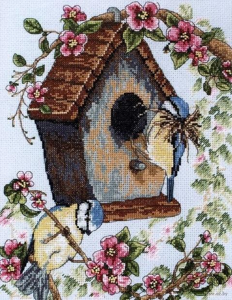 """Вышивка крестом """"Птичий домик"""""""