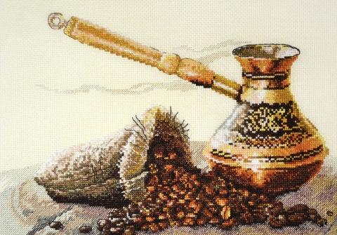 "Вышивка крестом ""Запах кофе"" (330x220 мм) — фото, картинка"