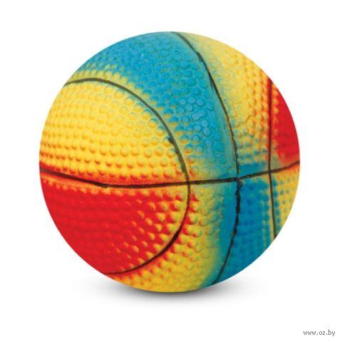 """Игрушка для собак с пищалкой """"Мяч баскетбольный"""" (6 см) — фото, картинка"""