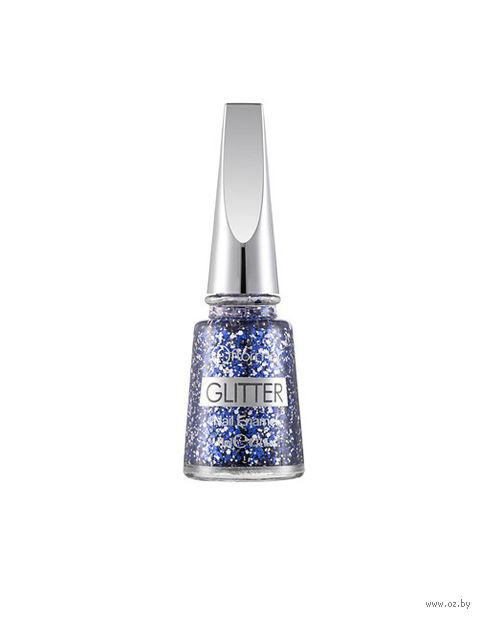 """Лак для ногтей """"Glitter Nail Enamel"""" (тон: 08, starry night) — фото, картинка"""