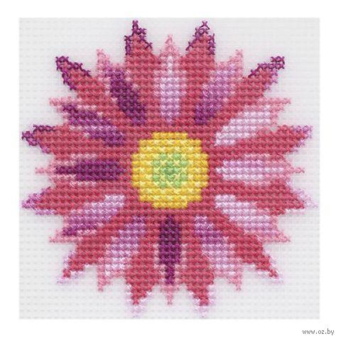 "Вышивка крестом ""Хризантема"" (100х100 мм) — фото, картинка"