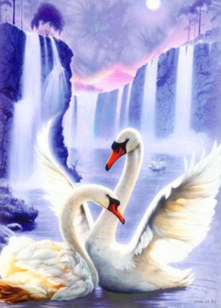 "Алмазная вышивка-мозаика ""Лебединая пара"""