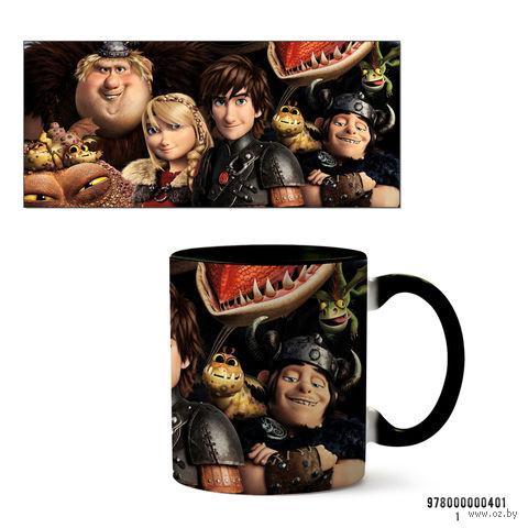 """Кружка """"Как приручить дракона"""" (черная) — фото, картинка"""