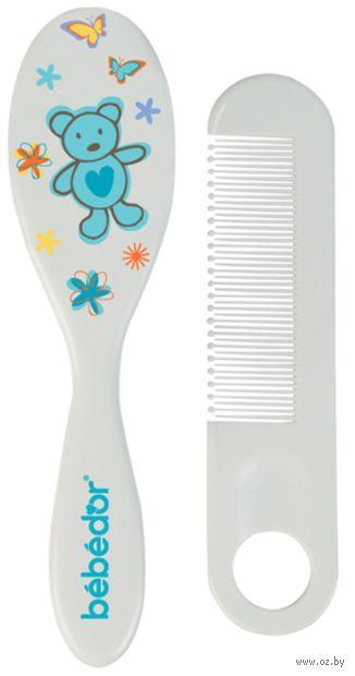 Набор для ухода за волосами детский (расческа, щетка; арт. 570) — фото, картинка