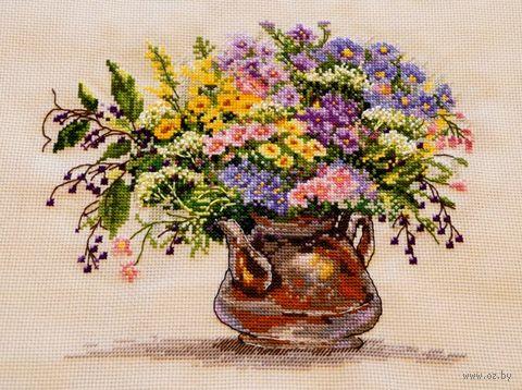 """Вышивка крестом """"Полевые цветы"""" (240х200 мм) — фото, картинка"""