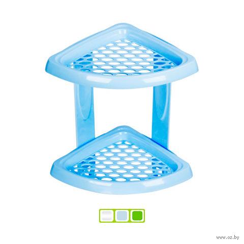 Полка для ванной угловая пластмассовая 2-ярусная (185х185х315 мм)