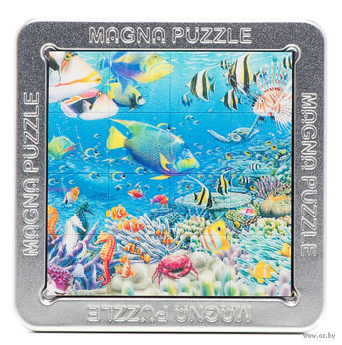 """Пазл магнитный """"Тропические рыбки"""" (16 элементов) — фото, картинка"""