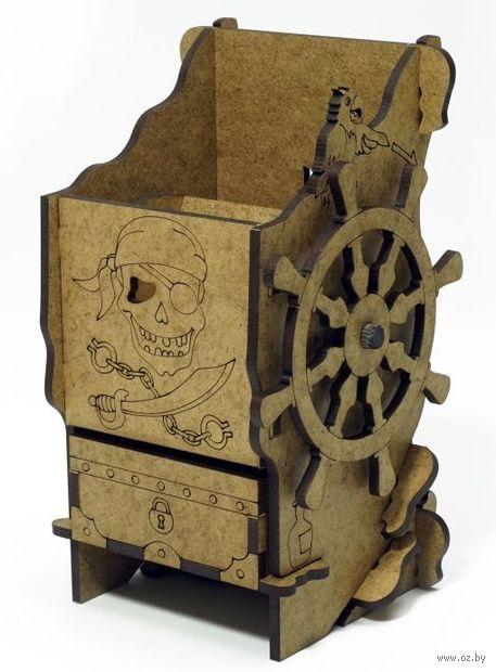 """Башня для бросков кубиков """"Пиратская"""" — фото, картинка"""