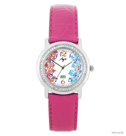 Часы наручные (розовые; арт. 74381852) — фото, картинка