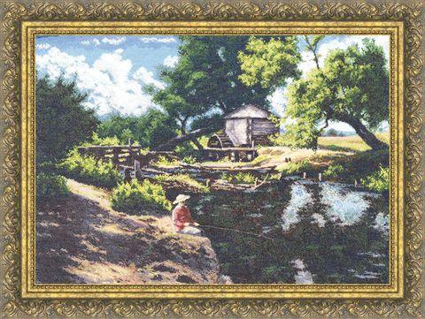 "Вышивка крестом ""Летняя рыбалка"" (420х560 мм) — фото, картинка"