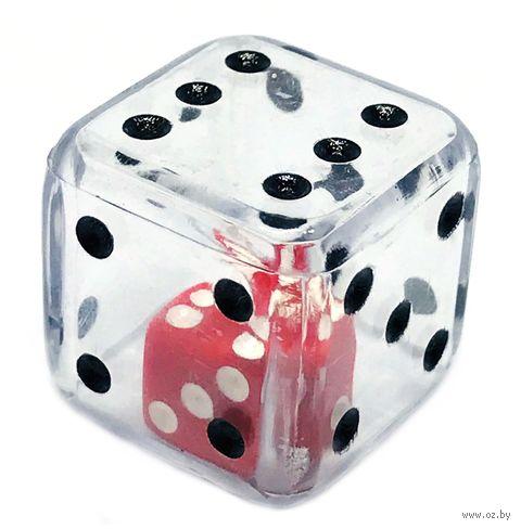 "Кубик D6 ""Инсайд"" (25 мм; прозрачный) — фото, картинка"