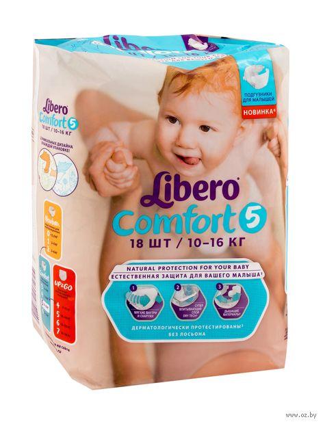 """Подгузники """"Comfort 5"""" (10-16 кг; 18 шт.) — фото, картинка"""