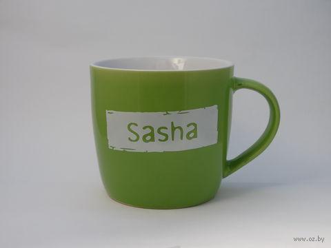 "Кружка широкая Name Is ""SASHA"""
