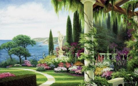 "Алмазная вышивка-мозаика ""Сад у моря"" (700х500 мм) — фото, картинка"