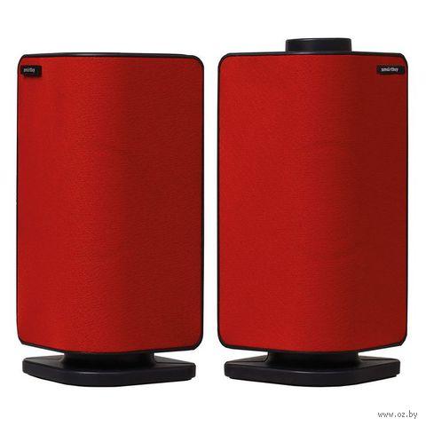 Мультимедийные стерео колонки SmartBuy® CULT, мощность 6Вт, USB, красные (SBA-2540)