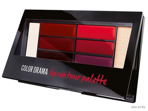"""Палетка для губ """"Color Drama"""" (тон: contour red) — фото, картинка"""