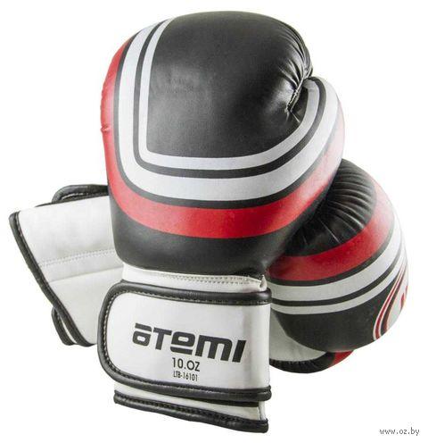 Перчатки боксёрские LTB-16101 (S/M; чёрные; 10 унций) — фото, картинка