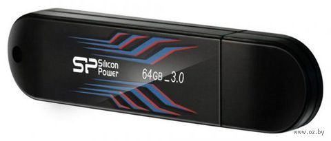 USB Flash Drive 64Gb Silicon Power Blaze series B10 USB 3.0 (Blue)