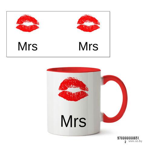 """Кружка """"Mrs"""" (арт. 651, красная)"""