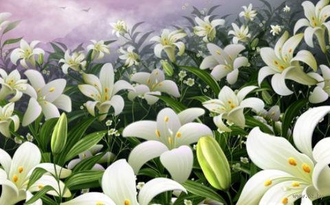 "Алмазная вышивка-мозаика ""Лилии"" (720х450 мм) — фото, картинка"