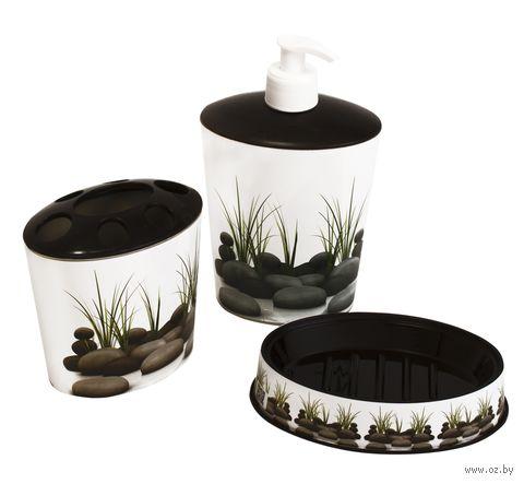 Набор для ванной пластмассовый (3 предмета; арт. D046-X04)