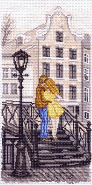 """Канва с нанесенным рисунком """"Амстердам. Мостик"""""""