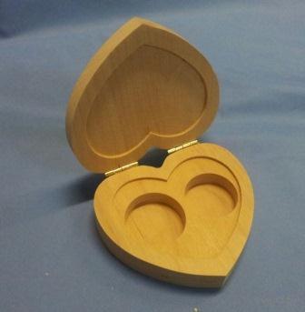 Шкатулка для обручальных колец (арт. МВ00409) — фото, картинка