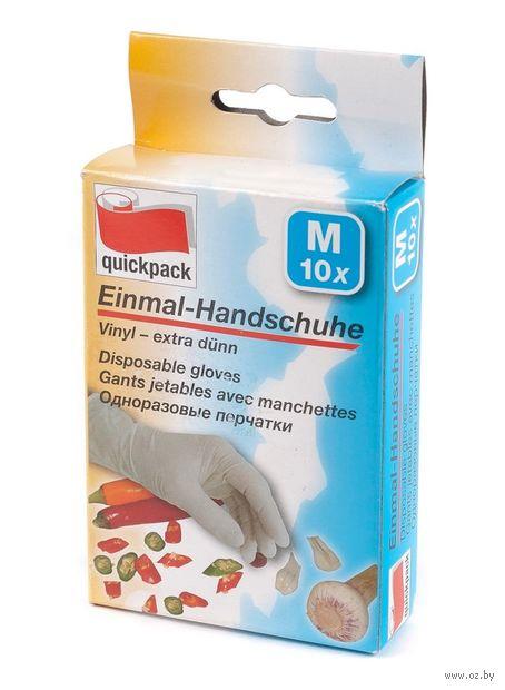Перчатки одноразовые резиновые (M; 5 пар) — фото, картинка