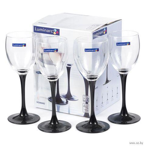 """Бокал для вина стеклянный """"Domino Noir"""" (4 шт.; 190 мл) — фото, картинка"""