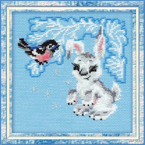 "Вышивка крестом ""Зайчонок"" (150х150 мм; арт. 798) — фото, картинка"