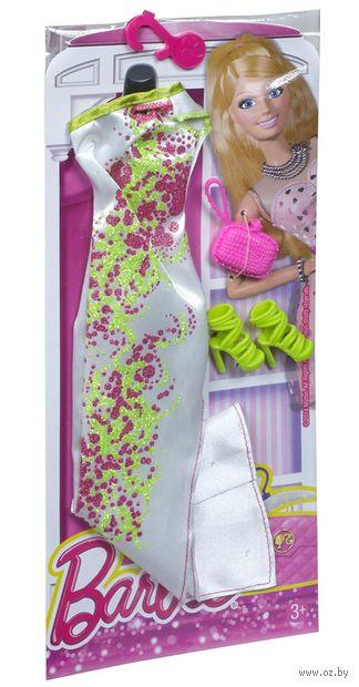 """Одежда для куклы """"Барби. Гламур. Белое платье с аксессуарами"""" (арт. CFY00)"""