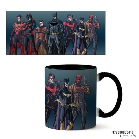 """Кружка """"Вселенная DC"""" (черная; арт. 410) — фото, картинка"""