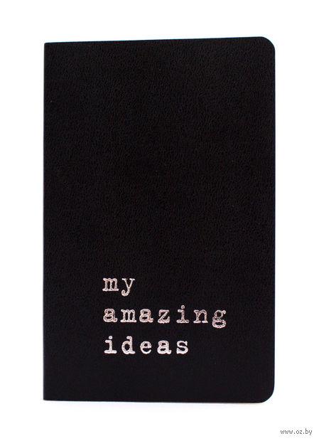 """Записная книжка Молескин """"Volant. My Amazing Ideas"""" нелинованная (карманная; мягкая черная обложка)"""