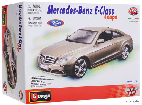 """Модель машины """"Bburago. Mercedes-Benz E-Class Coupe"""" (масштаб: 1/32)"""