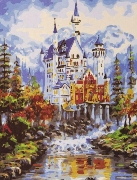 """Картина по номерам """"Величественный замок"""" (400x500 мм) — фото, картинка"""