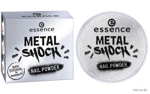 """Пудра для ногтей """"Metal Shock"""" тон: 01 — фото, картинка"""