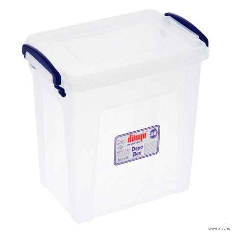 Ящик для хранения пластмассовый с крышкой (3,6 л)