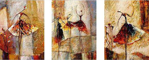 """Картина по номерам """"Триптих. Грация"""" (3 шт. 400x500 мм; арт. MX3008)"""