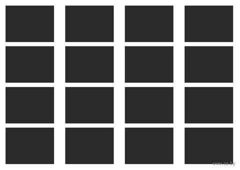Набор наклеек (16 шт.; прямоугольные) — фото, картинка