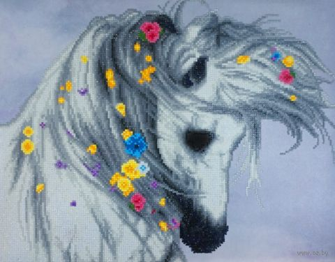 "Алмазная вышивка-мозаика ""Туманная ветреница"" (400х500 мм) — фото, картинка"