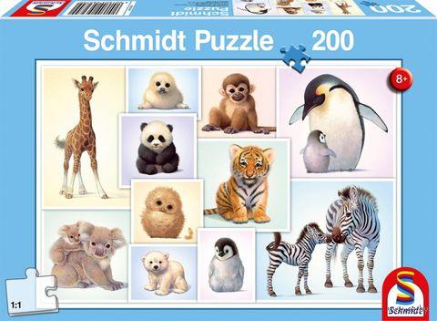 """Пазл """"Коллаж. Детеныши диких животных"""" (200 элементов) — фото, картинка"""