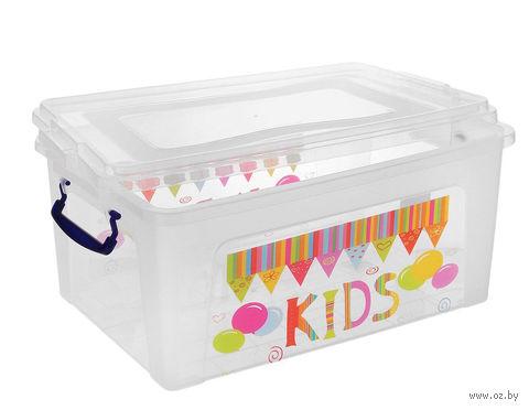 Ящик для хранения пластмассовый с крышкой (5,5 л)