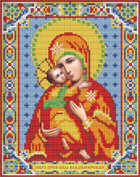 """Алмазная вышивка-мозаика """"Икона Владимирская Богородица"""" (220х280 мм; арт. АЖ-2007) — фото, картинка"""