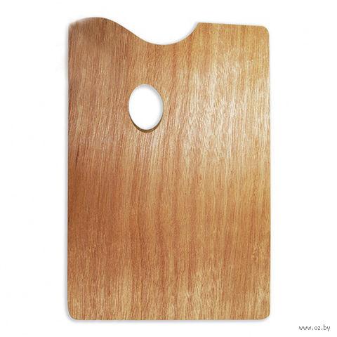 Палитра деревянная прямоугольная (20x30 см)