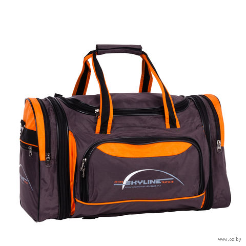 Сумка спортивная 6067с (38 л; коричнево-оранжевая) — фото, картинка