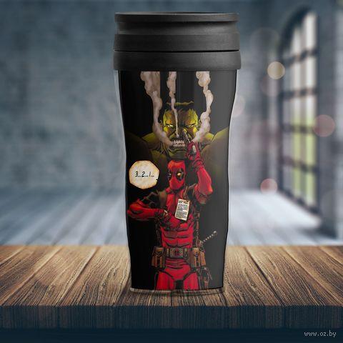 "Термостакан ""Marvel. Deadpool"" (арт. 1) — фото, картинка"