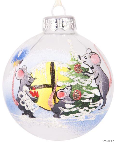 "Шар ёлочный ""Новый год"" (арт. Ш80-78) — фото, картинка"