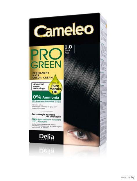 """Краска для волос """"Cameleo Pro Green"""" (тон: 1.0, черный) — фото, картинка"""