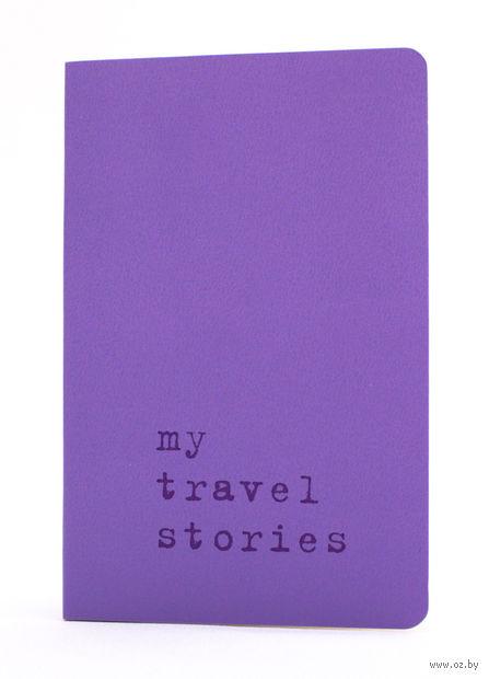 """Записная книжка Молескин """"Volant. My Travel Stories"""" нелинованная (карманная; мягкая светло-пурпурная обложка)"""