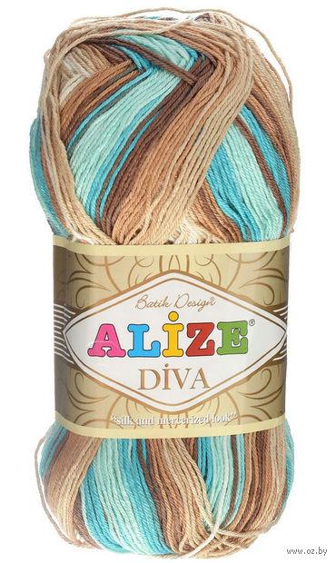 "Пряжа ""ALIZE. Diva Batik Design №4603"" (100 г; 350 м) — фото, картинка"